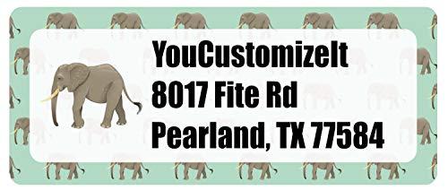 Elephant Return Address Labels (Personalized)