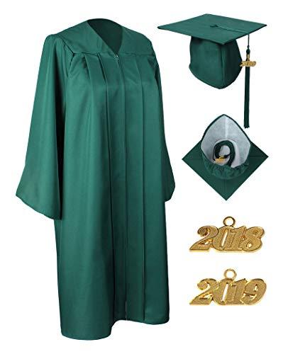 824c621551d MyGradDay Unisex Matte Graduation Gown Cap Tassel 2018 and 2019 Year Charms