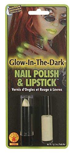 [Rubie's Costume Women's Glow-In-The-Dark Novelty Lipstick and Nail Polish, Multi, One Size] (Lipstick Halloween Costumes)