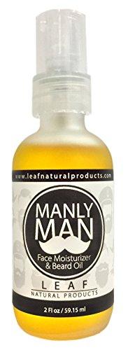 [Manly Man Organic Beard Oil and Face Moisturizer - Sandalwood, Vanilla, Amber - 2 fl oz] (Amber Moisturizer)