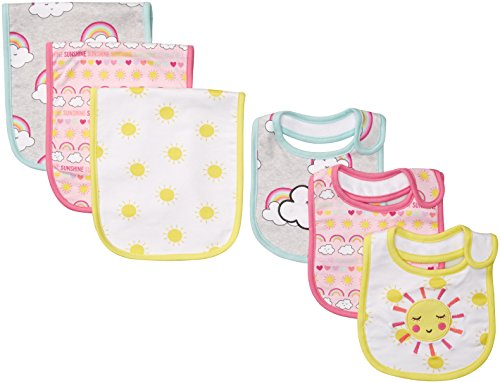 Childrens Infant Clothing - The Children's Place Baby Girls 6 Pack Bib Bundle, Heather/T Lunar, No Size
