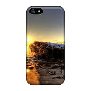 diy zhengSnap-on Morning On A Frozen City Shore Hdr Case Cover Skin Compatible With iPhone 6 Plus Case 5.5 Inch //