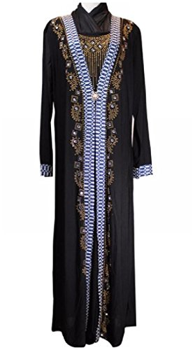 Stylish Dress Caftan As1 Abaya Coolred Ramadan Women Muslim Long Bead 0t5w7q5
