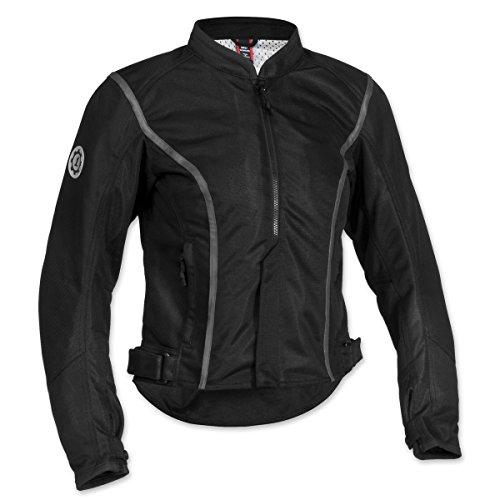 Firstgear Women's Contour Mesh Black Jacket, L by Firstgear