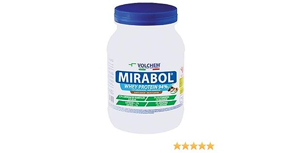 Volchem Mirabol Whey Protein 94% / Integratore Di Sieroproteine Del Latte / 750 g/Gusto Bacio