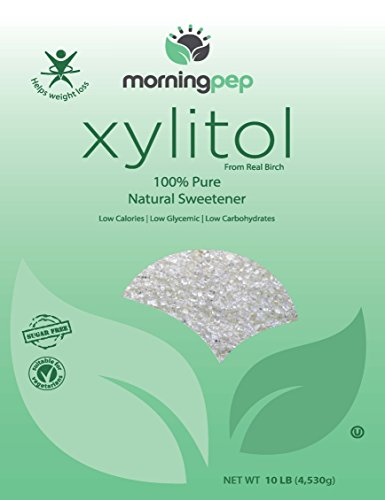 Pack of 2 Morning Pep Pure Birch Xylitol (Keto Diet Friendly) Sweetener Bulk Size 10 LB by (Not from Corn) Non GMO - Kosher - Gluten Free - Product of USA. Total 20 Lbs (320 OZ) by Morning Pep (Image #3)