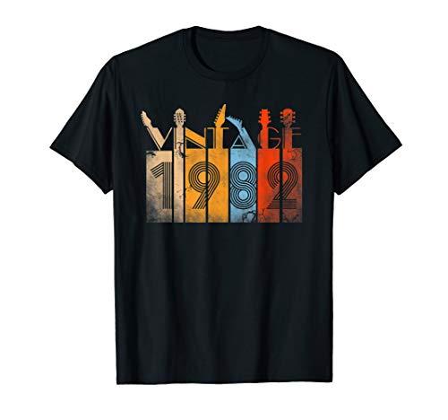 37th Birthday Vintage 1982 Guitar Lover Funny T Shirt