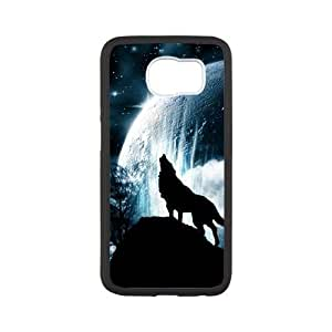Samsung Galaxy S6 Phone Case The Wolf Moon Protective Cell Phone Cases Cover TTR122221