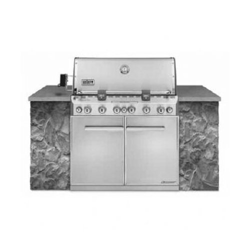 Weber 7360001 Summit S-660 Built-In Liquid Propane Gas Grill, Stainless Steel