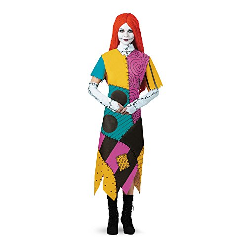 Costumes Nightmare Halloween (Disguise Women's Disney Nightmare Before Christmas Sally Classic Costume, Yellow/Red/Black/Green,)