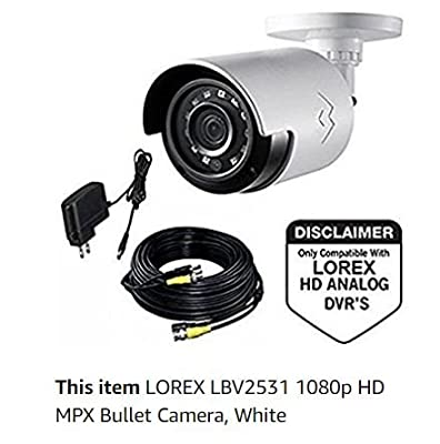 Lorex LBV2531 1080p Analog HD MPX Bullet NIght Vision Security Camera from LOREX BY FLIR