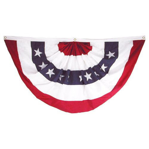Online Stores Sewn Polyester Pleated Fan, 3 by 6-Feet (Store Decorations)