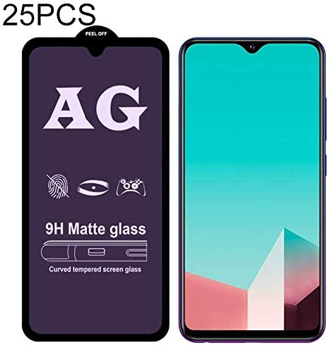 Wangl Mobile Phone Tempered Glass Film 25 PCS AG Matte Anti Blue Light Full Cover Tempered Glass for Vivo X27 Pro Tempered Glass Film