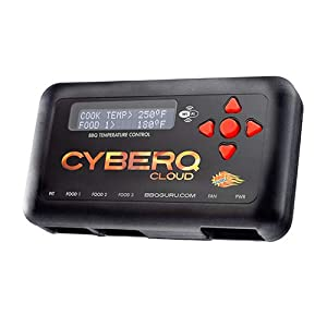 CyberQ BBQ Temperature Controller and Digital Meat Thermometer for Big Green Egg, Kamado Joe, Weber, and Ceramic Grills