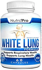 White Lung is a respiratory formula that was designed specifically to help support the respiratory system of whom suffering years of smoking damage and support COPD lung diseases breathing problems. White Lung has an amazing blend of superb i...