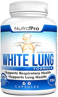 White Lung by NutraPro - Lung Cleanse & Detox. Support Lung Health After Years of Smoking. Supports Respiratory Health. 60 Capsules - Made in GMP Certified Facility. (Best Way To Sleep With A Cough)