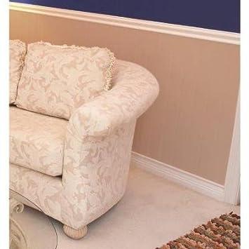 White Vinyl Wainscot Interior/Exterior Chair Rail And Base Kit
