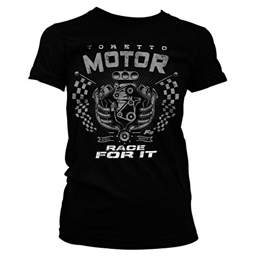 T-shirt Johnson Motors - Fast & Furious Officially Licensed Toretto Motor - Race It Women T-Shirt (Black), Medium