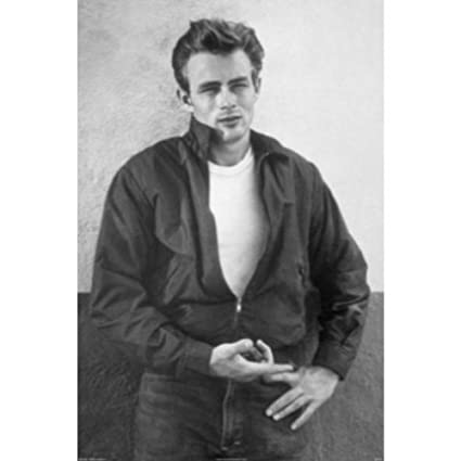 Buyartforless james dean 36x24 art print poster hearthrob james dean black and white photography shot of