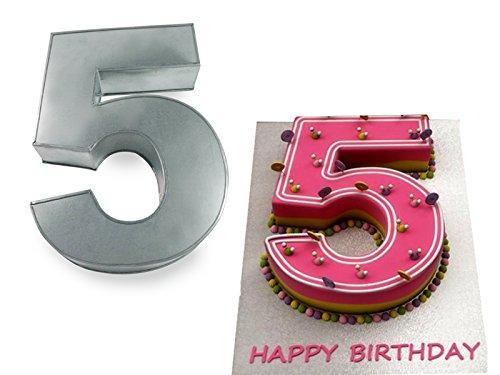 Euro Tins Numeric cake pan 35cm birthday cake tin number five 5 large 14