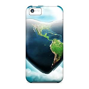 Slim Fit Protector Shock Absorbent Bumper Earth Heart Cases For Iphone 5c
