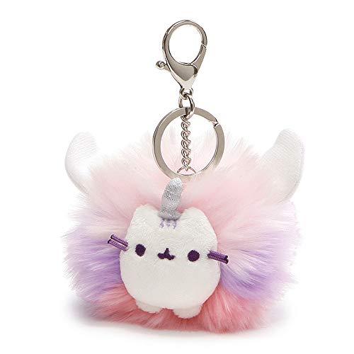 "GUND Pusheen Super Pusheenicorn Unicorn Cat Plush Pom Deluxe Keychain, 4"", Multicolor (4061304)"