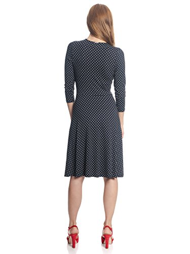 Vive Maria Damen Kleid Lucky Girl Polka Dot Punkte Dress Nachtblau mit beigen Dots HA8sgADp0