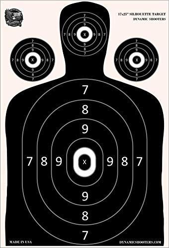 Dynamic Shooters - 100 Pack 17X25-inch Made in USA Large Paper Silhouette Range Shooting Targets - Firearm, Rifle, Gun, Pistol, BB Guns, Airsoft, Pellet Gun, Air Rifle