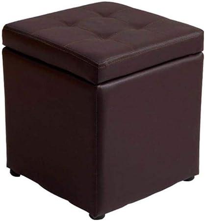 ZBYY Taburete Puff Marron Caja con Tapa Desmontable Taburete De Almacenamiento Puf Reposapiés Taburete Puff para Dormitorio Salón Pasillo: Amazon.es: Hogar