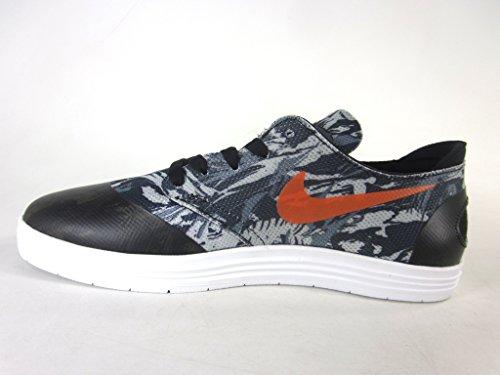 NIKE Lunar Oneshot - Zapatillas De Skate de cuero hombre - BLACK/SAFETY ORANGE