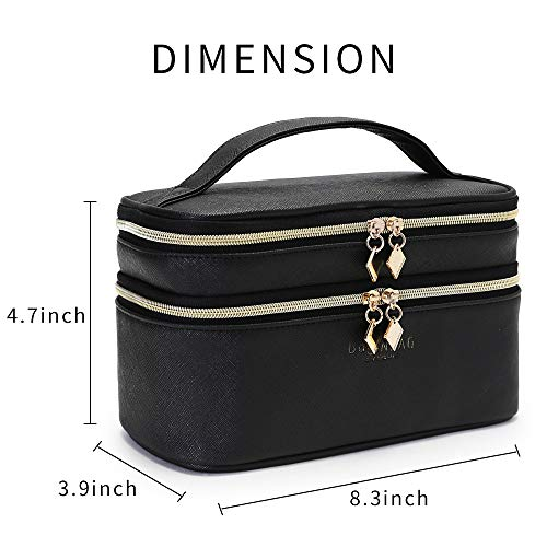 fbf1634aac84 IN Multifunction Dual Compartment Portable Waterproof Cosmetic Bag ...