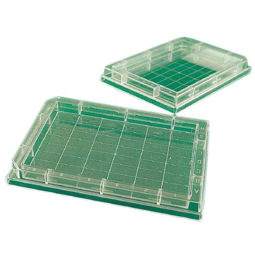 Whatman 7701-2350 Black Polystyrene 96 Wells Uniplate Collection and Analysis Microplate with Flat Well Bottom, 300microliter Volume