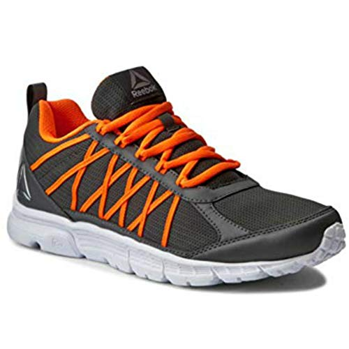Reebok Men's Speedlux 2.0 Running Shoes, Alloy Grey/Orange / White (9)