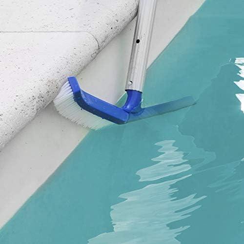 LINXOR Tête de brosse paroi 25 cm bleu pour piscine