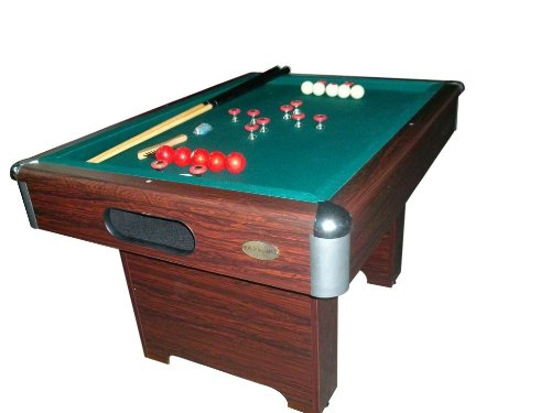 Berner Billiards Slate Bumper Pool Table in Walnut ()