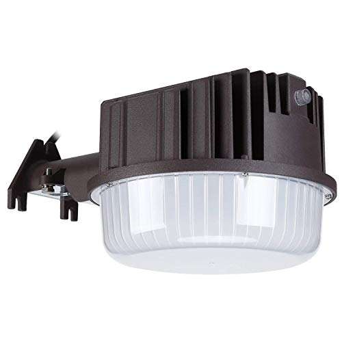 LEONLITE Dusk to Dawn LED Outdoor Barn Light, Waterproof Area Floodlight with Photocell,DLC & ETL Listed, 80W (800W Equiv.), 5000K Daylight, for Yards, Barns, Parking Lots, Garages, 5 Years Warranty (Dusk To Exterior Dawn Lighting)