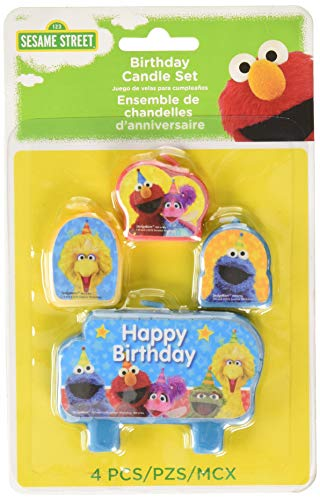 Sesame Street 'Stars' Mini Candle Set (4pc), used for sale  Delivered anywhere in USA