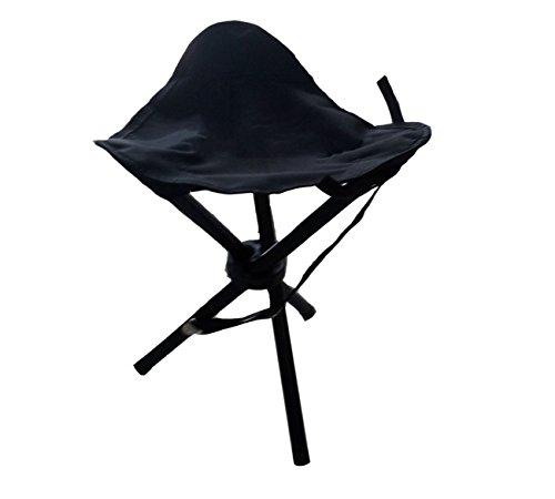 faltbar Dreibeinhocker 3-Bein-Hocker Camping-Stuhl Dreibein-Hocker 40cm Sitzh/öhe handliche 550g leicht