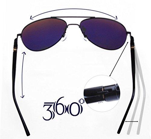 MOQJ de Hombres de polarizadas para Gafas Gafas Exteriores para para Vintage Sol Sol C Gafas A Gafas Sol rw5rIzq