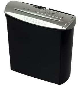 Genie 245 - Destructor de documentos y CD con papelera integrada - color negro/plata
