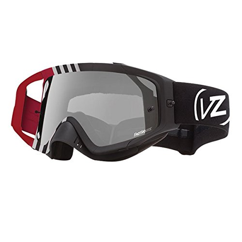 VonZipper Adult MX Porkchop Snow Goggles Eyewear, Fasthouse Red / Gray Chrome Lens, One Size Fits All by VonZipper