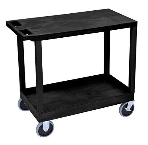 LUXOR EC21HD-B Cart, 1 Tub/1 Flat Shelves, 18