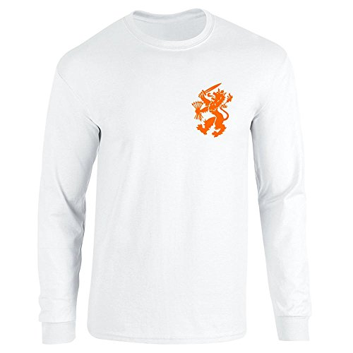 Dutch Soccer Retro National Team Halloween Costume White M Long Sleeve T-Shirt