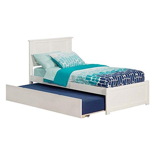 Rosebery Kids Twin Platform Bed Trundle in White (Slot Bracket Twin)