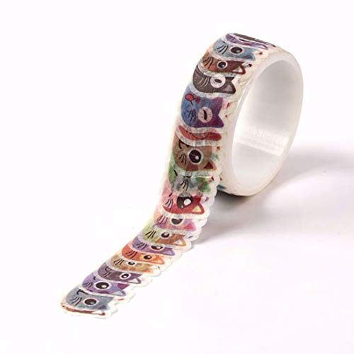 Cute Cat Faces Washi Tape for Planning • Scrapbooking • Arts Crafts • Office • Party Supplies • Gift Wrapping • Colorful Decorative • Masking Tapes • DIY from MERYKEEM