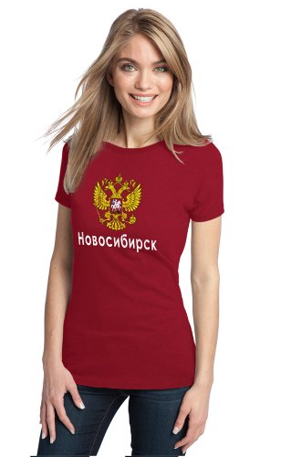 NOVOSIBIRSK, RUSSIA Ladies' T-shirt, Russian, Rossiya Pride Tee