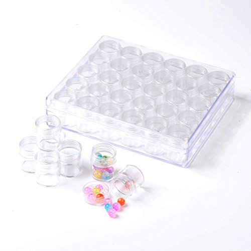 Pandahall Plastic Container Organizers Transparent