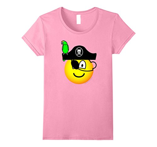 Womens Funny Pirate Expression With 1 Eye And Parrot For Halloween Small (Homemade Womens Pirate Costume)