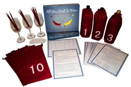 Wine Game Kit - All You Need Is Wine - A Blind Wine Tasting Party Game!