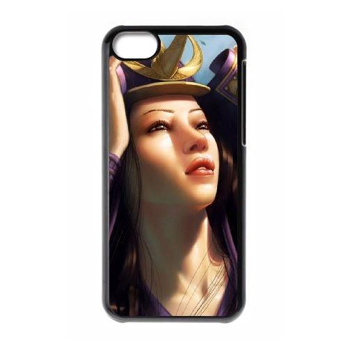 I2A26 fille fantastique cas de téléphone X6Z8RH coque iPhone 5c cellulaire couvercle coque noire XE6VHP7DR